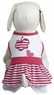 Dogit Style Striped Dress, Pink with Butterfly design, Large, From Hagen