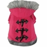 Dogit Style Sweater with Faux Fur Trimmed Hoodie, Pink, Medium, From Hagen