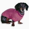 Fashion Pet Classic Cable Dog Sweater, Pink, Medium