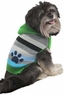 Fashion Pet Stripes and Paw Print Dog Hoodie, Small, Green