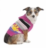 Fashion Pet Stripes and Paw Print Dog Hoodie, X-Small, Pink