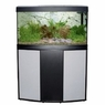 Fluval Vicenza 180 Bow Front Aquarium Set, Black/Silver, From Hagen
