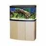 Fluval Vicenza 260 Bow Front Aquarium Set, Black/Oak, From Hagen