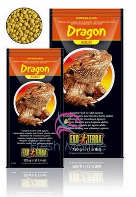 Hagen Exo Terra Adult Bearded Dragon Foods, Reptile Food Dry Pellets, 11.5 oz From Hagen Exoterra