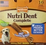 Nylabone Nutri Dent Filet Mignon 16 Count Dental Chews for Adult Dogs, Large Pantry Pack