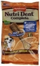 Nylabone Nutri Dent Filet Mignon 18 Count Dental Chews for Adult Dogs, Medium