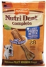 Nylabone Nutri Dent Filet Mignon 28 Count Dental Chews for Adult Dogs, Small