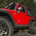 XHD Steel Rock Sliders from Rugged Ridge, fits 2007-2017 Jeep Wrangler JK 2-Door Models