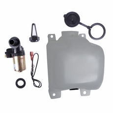 17) Washer Bottle Kit with Pump & Filter, fits 1972-86 Jeep CJ5, CJ7 & CJ8