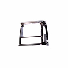 1991-96 XJ HEADLIGHT BEZEL, BLACK/CHROME, LEFT