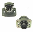 Receptacle, 2 Socket Style with Cap for Trailers, Generator Sets Etc.., MS75058-1