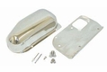 21) Windshield Wiper Motor Cover Kit, Stainless Steel, fits 1976-86 Jeep CJ5, CJ7 & CJ8