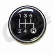 5-Speed Transmission Shift Knob Insert for 1982-1986 Jeep CJ, Cherokee with T5 Transmission