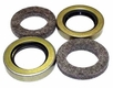 8a) Oil Seal and Felt Kit for Output Shaft, 2 Seals & 2 Felts, fits 1946-71 Jeep & Willys with Dana Spicer 18 Transfer Case