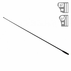 Replacement Black Antenna Mast, fits 1976-86 Jeep CJ and 1987-95 Wrangler YJ