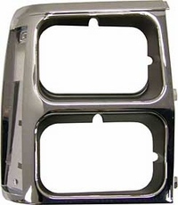 Bezel, Headlamp, Right, Black/Chrome- Wagoneer (dual) 1984-90 Cherokee XJ