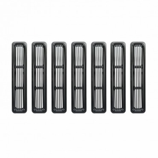 Billet Grille Inserts, Black, 97-06 Jeep Wrangler by Rugged Ridge