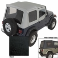XHD Soft Top, Black, Tinted Windows, 88-95 Jeep Wrangler by Rugged Ridge
