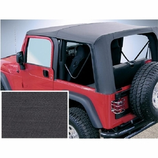 XHD Soft Top, Black Diamond, Clear Windows, 97-06 Jeep Wrangler by Rugged Ridge