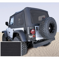 XHD Soft Top, Black, Tinted Windows, 97-06 Jeep Wrangler by Rugged Ridge