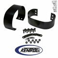 Black Powder Coated Stainless Bumperette Set fits 1976-1995 Jeep CJ & YJ Wrangler by Kentrol