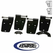 Black Powder Coated Stainless Hardtop Door Hinge Set, 4 pieces, fits 1976-1993 Jeep CJ & YJ Wrangler by Kentrol