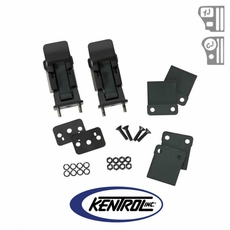 Black Powder Coated Stainless Hood Catch Set, TJ Style fits 1942-1995 Jeep CJ & YJ Wrangler by Kentrol