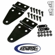 Black Powder Coated Stainless Hood Hinge Set fits 1955-1995 Jeep CJ & YJ Wrangler by Kentrol