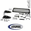 Black Powder Coated Stainless Hood Kit fits 1978-1995 Jeep CJ & YJ Wrangler by Kentrol