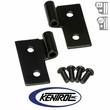 Black Powder Coated Stainless Lower Door Hinge Set fits 1976-2006 Jeep CJ, Wrangler YJ, & TJ by Kentrol