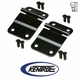 Black Powder Coated Stainless Tailgate Hinge Set  fits 1976-1986 Jeep CJ7 Models by Kentrol