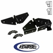Black Powder Coated Stainless Windshield Hinge Set fits 1976-1995 Jeep CJ & YJ Wrangler by Kentrol