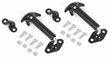 Windshield Hood Catch Set, Black, 46-63 Willys and Jeep CJ Models by Rugged Ridge
