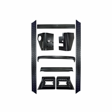 9-Piece Full Body Armor Kit, 97-06 Jeep Wrangler by Rugged Ridge