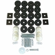 Body Mounting Kit, Includes Washers, Rubber Spacers, and Bolts, 1941-1971 MB, Jeep CJ, M38, M38A1
