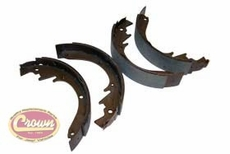 """Brake Shoe Set, Front or Rear, for 10"""" x 2"""" Brakes, 1967-1971 Jeepster Commando C101"""