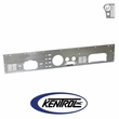 Brushed Stainless Steel Dash Panel with Radio Opening fits 1977-1986 Jeep CJ Models by Kentrol
