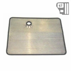 Radiator Bug Shield, Stainless Steel, 87-95 Jeep Wrangler by Rugged Ridge
