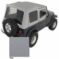 XHD Soft Top, Charcoal, Clear Windows, 88-95 Jeep Wrangler by Rugged Ridge
