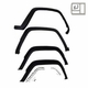 4 Piece Fender Flare Kit for 1984-1996 Jeep Cherokee XJ, Includes Hardware, Black