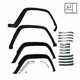 4 Piece Fender Flare Kit with Retainers, fits 1984-1996 Jeep Cherokee XJ, Black