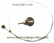 Choke Cable Assembly Fits Willys MB, GPW, M38, M38A1