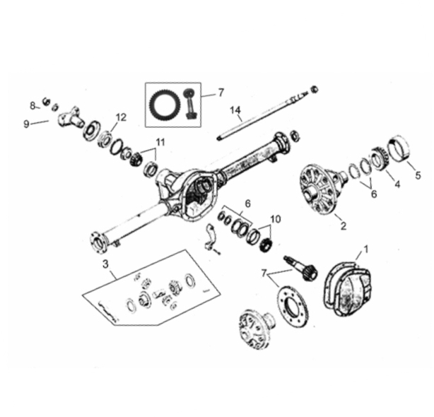 Cj2a Rearaxle Semifloat Parts on 1987 chevy steering column diagram