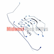 Complete Formed Steel Brake Line Kit for 1952-1964 Willys Jeep M38A1 Models