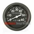 Complete Speedometer Assembly, Long Style Needle, 0-60 MPH Fits 1941-43 Willys MB, Ford GPW