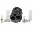 Rubber Shell Connector Kit Male End with Double Terminal for Brake Light Switch, MS27145-1