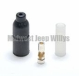 Rubber Shell Connector Kit Male End, Ribbed Shell with 14 Gauge Wire, MS27144-3