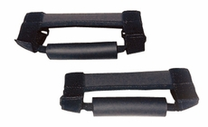 Deluxe Grab Handles, Black, 55-17 Jeep CJ and Wrangler by Rugged Ridge