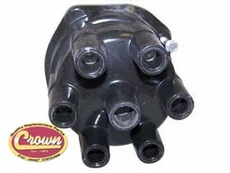 DISTRIBUTOR CAP, 1972-74 6 CYL W/ POINT IGN., ALL