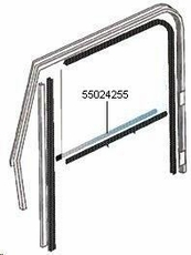 Door Belt Line Outer Glass Seal, Left Hand for Full Steel Doors, fits 1976-86 Jeep CJ & 1987-95 Wrangler